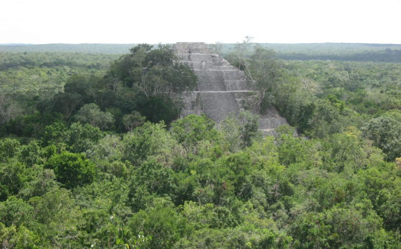 The remote site of Calakmul