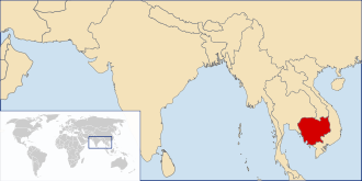 Cambodia in South East Asia (c) Wikipedia