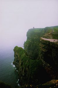 Cliffs of Moher in the good old days before the visitor center was built