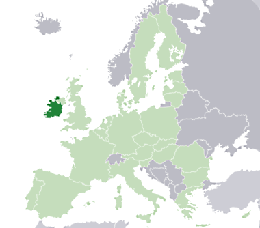 Where is Ireland within Europe